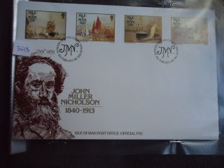 Isle Of Man First Day Cover 1987 Paintings photo