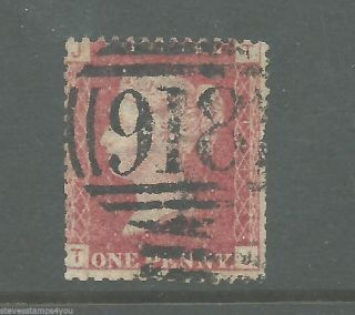 Queen Victoria - Penny Red - Plate 111 - Cv £ 2.  75 - photo