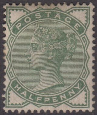Gb Qv 1/2d Deep Green Sg164 Halfpenny Hinged 1880 Stamp photo