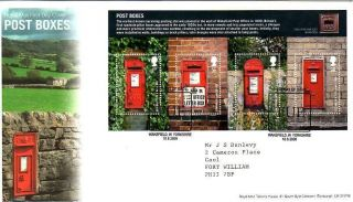 Post Boxes Miniature Sheet Fdc 18 - 8 - 09 Wakefield Shs - F10 photo
