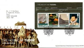 House Of Tudor Mini Sheet Fdc 21 - 4 - 09 London Se10 Shs - F10 photo