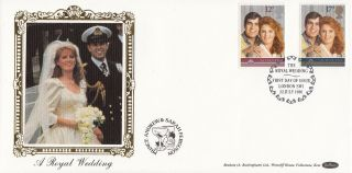 1986 Gb Benham Royal Wedding Fdc With London Sw1 Special Handstamp photo