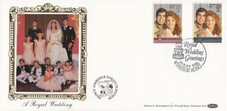1986 Gb Benham Royal Wedding Fdc With Windsor Berks Special Handstamp photo