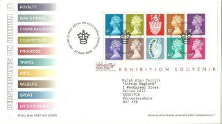 Royal Mail Matthews Palette Exhibition Miniature Sheet Fdc Fdi Edinburgh Shs photo