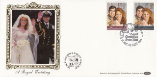 1986 Gb Benham Royal Wedding Fdc With York Special Handstamp photo