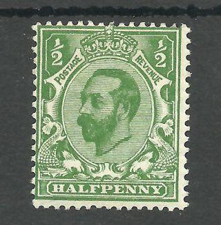Sg323 The 1911 - 12 Gv Halfpenny Bluish Green (die A) Fresh Cat £300 photo