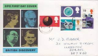 1967 British Discovery Fdc Nottingham Fdi photo
