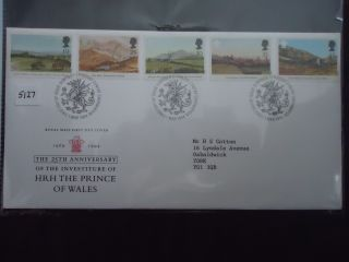 Great Britain First Day Cover 1994 25th Anniversary Hrh The Prince Of Wales photo