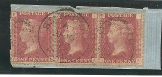 Sg 43 - 4 The 1858 - 78 Penny Red Pair &single In St.  Thomas C.  £1650++ On Cover photo