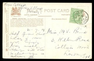 Jersey 1909 Portelet Bay Ppc Fine Gorey Sub Office Cancel From Rosa Cottage photo