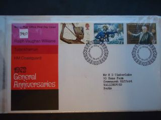 Great Britain First Day Cover 1972 General Anniversaries.  London Ec Postmark photo