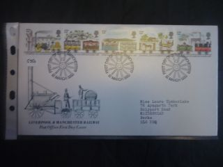 Great Britain Fdc 1980 Liverpool And Manchester Railway Fdi Manchester H/s photo