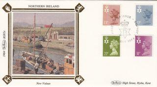 (27369) Gb Benham Fdc Northern Ireland - 31p 22p 17p 13p Belfast - 23 Oct 1984 photo