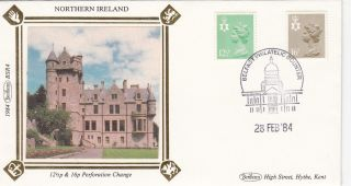 (27370) Gb Benham Fdc Northern Ireland - 16 P 12.  5p Belfast - 28 Feb 1984 photo