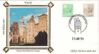 (27371) Gb Benham Fdc Wales - 16p 12.  5p Cardiff - 10 January 1984 photo