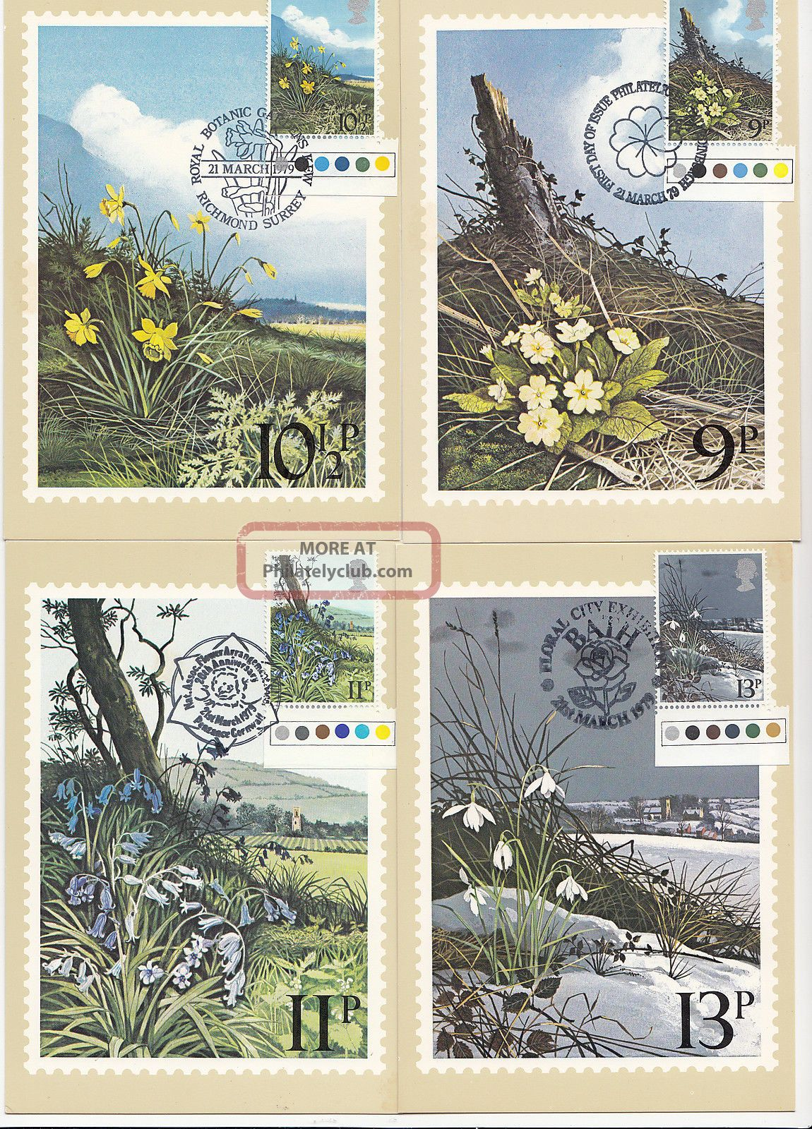 (32423) Gb Phq Fdi Flowers Traf Light Margin Maxicard / Postcard - 21 Mar 1979 1971-Now photo