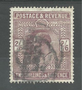 Sg 316 Edward V11 1911 2/6d Dull Reddish Purple Fine Cat £180 photo