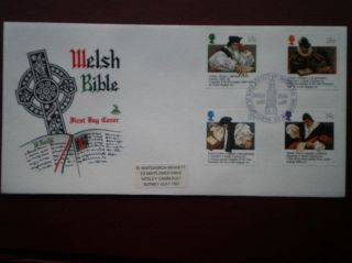 Cover Mercury 1988 Welsh Bible Cat Value £8.  50 Special Hand Stamp photo