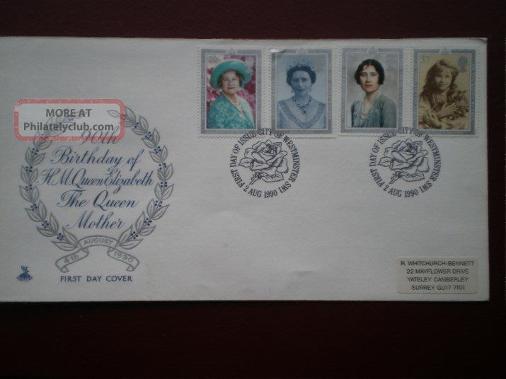 Cover Mercury 1990 90th Birthday Cat Value £4.  50 Special Hand Stamp 1971-Now photo