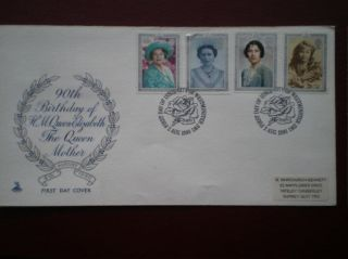 Cover Mercury 1990 90th Birthday Cat Value £4.  50 Special Hand Stamp photo