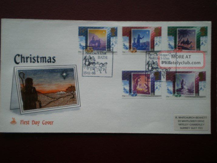 Cover Mercury 1988 Christmas Cat Value £8.  50 Special Hand Stamp 1971-Now photo
