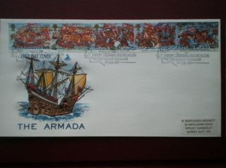 Cover Mercury 1988 The Armada Cat Value £11 Special Hand Stamp photo