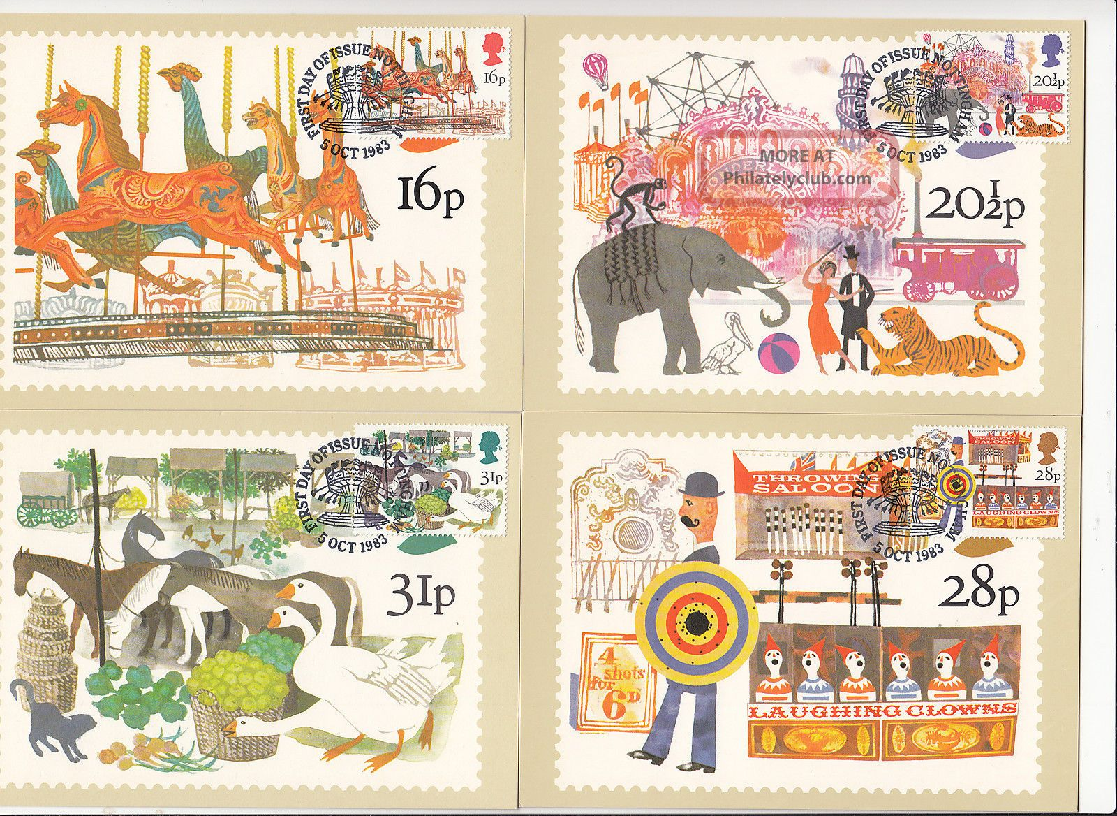 (32433) Gb Phq Fdi British Fairs Maxicard / Postcard - Nottingham 5 October 1983 1971-Now photo