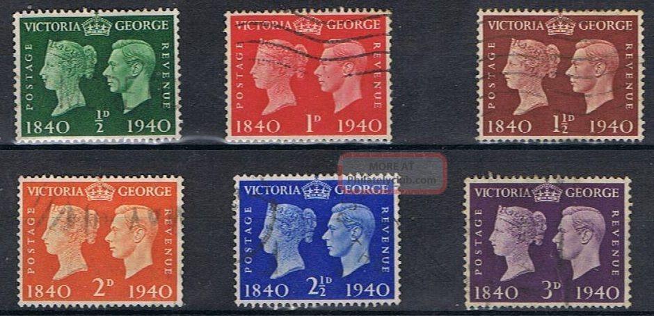 George Vi - 1940 - Sg479 To Sg484 - Cv £ 7.  75 - Great Britain photo