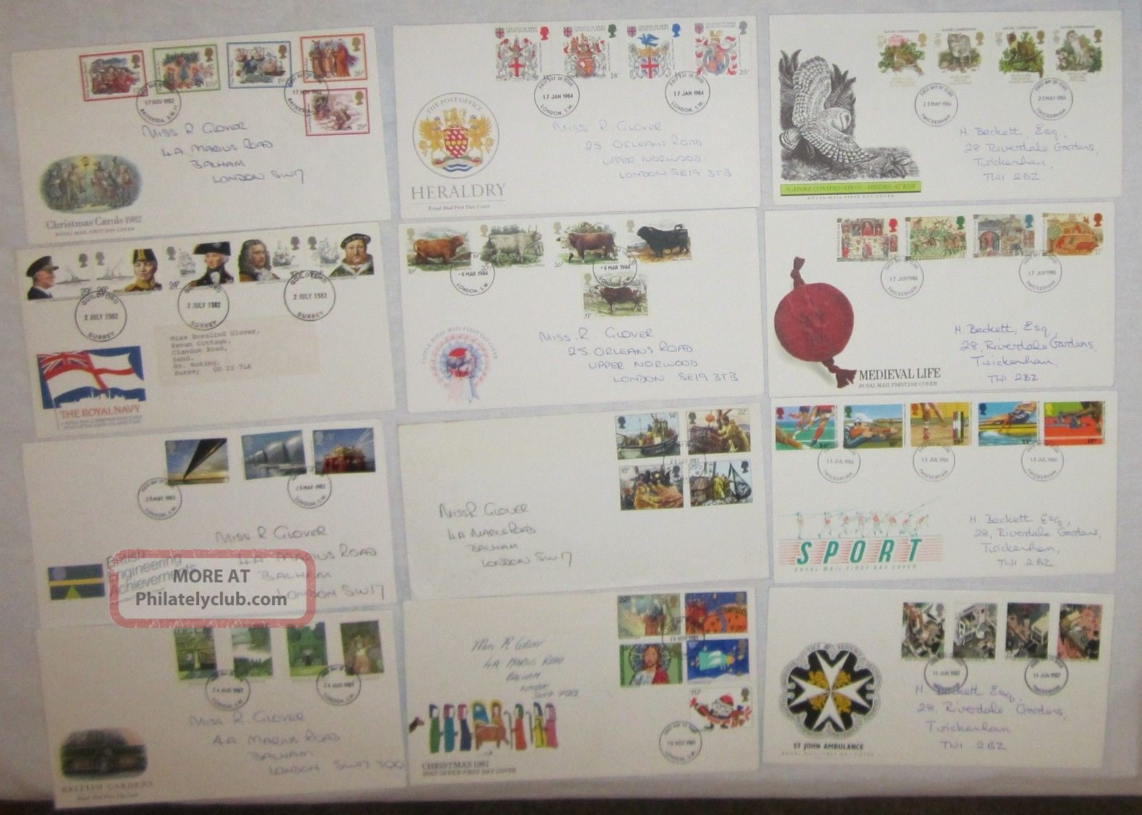 (27358) Gb Clearance Fdc X 12 1980 ' S Commemoratives 1971-Now photo