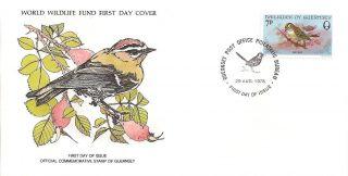 Fdc Wwf Firecrest Bird - Gb Guernsey 1978 photo