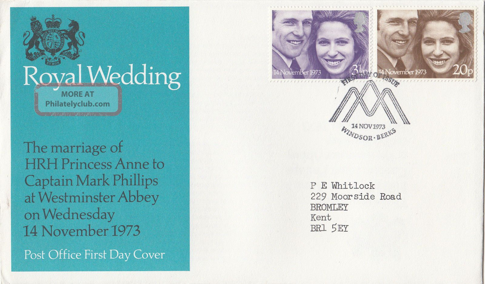 (29888) Clearance Gb Fdc Princess Anne Wedding - Windsor 14 November 1973 1971-Now photo