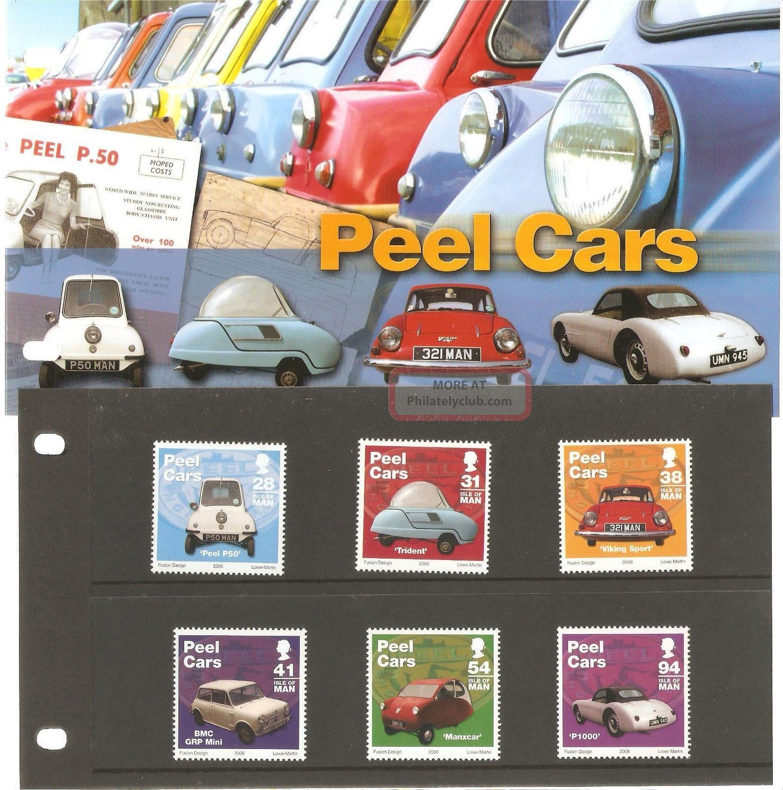 Isle Of Man Presentation Pack Peel Cars Regional Issues photo