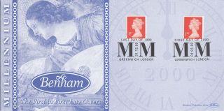 (74035) Gb Benham Cover Last Day 31 Dec 1999 1st Day 1 Jan 2000 - Greenwich photo