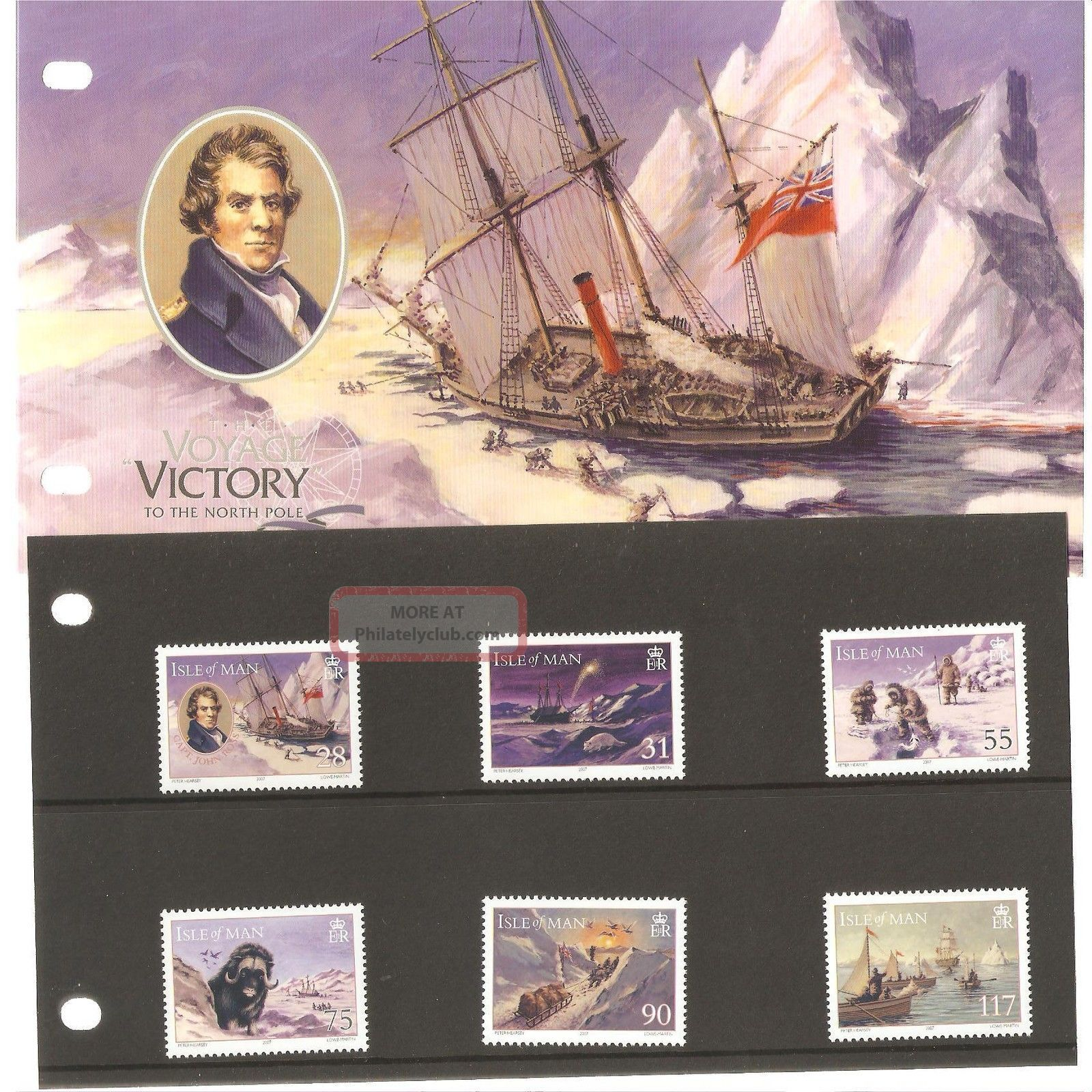 Isle Of Man Presentation Pack Voyage Of The Victory To The North Pole Regional Issues photo
