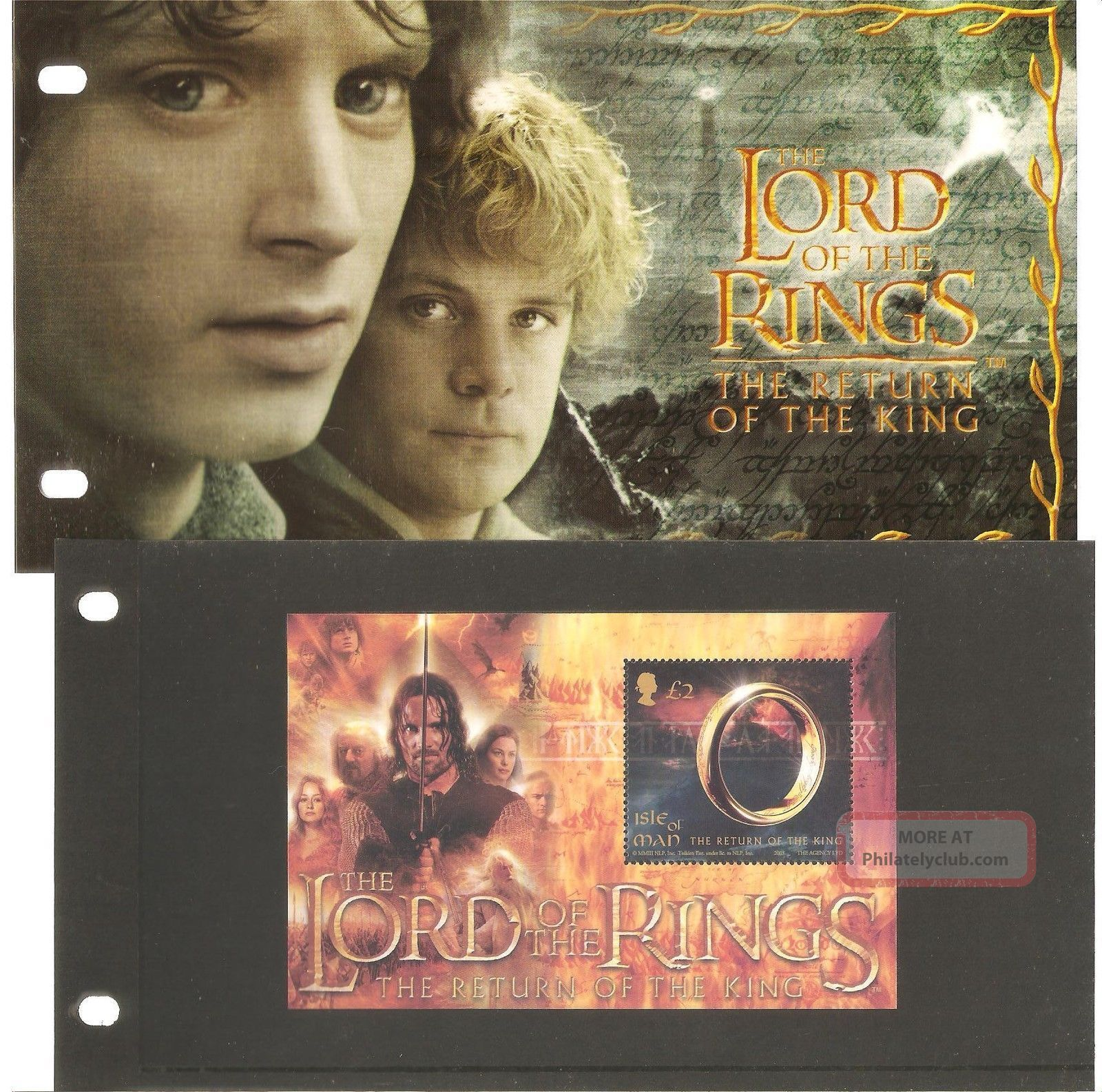 Isle Of Man Presentation Pack Lord Of The Rings The Return Of The King Regional Issues photo