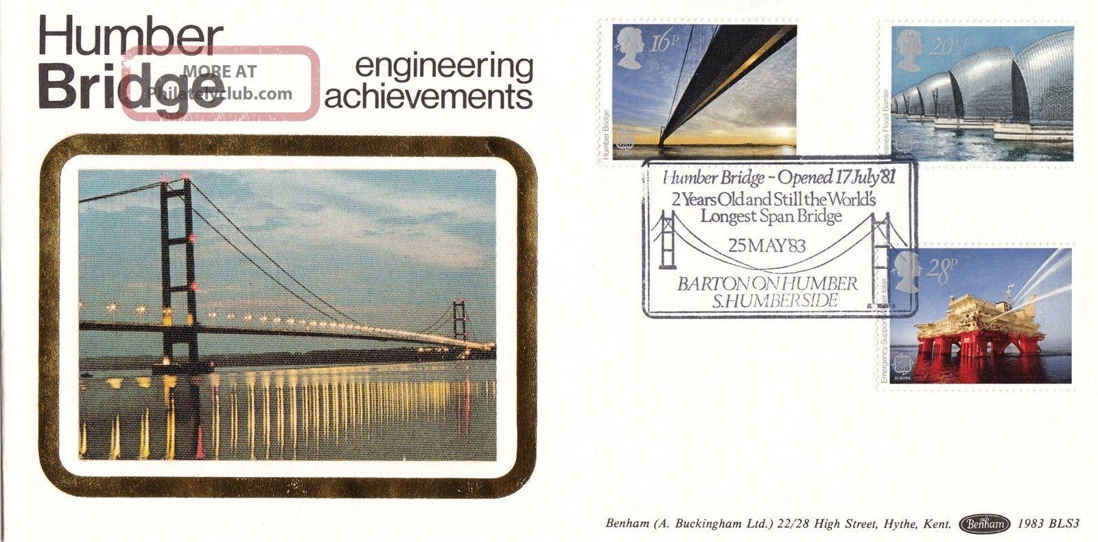 (24405) Gb Benham Fdc Engineering / Humber Bridge / Oil Rig - Barton 25 May 1983 1971-Now photo