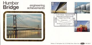 (24405) Gb Benham Fdc Engineering / Humber Bridge / Oil Rig - Barton 25 May 1983 photo