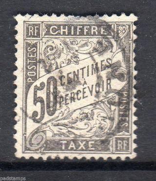 France 1892 50c Black Postage Vf Sg D289 photo