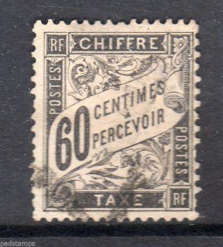 France 1892 60c Black Postage Vf Sg D290 photo