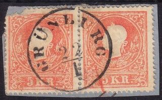 Austria 1858 2 5kr,  Type Ii,  GrÜnburg (oö) Canc.  Müller:25point photo
