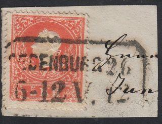 Austria 1858 5kr,  Type Ii.  Oedenburg/6 - 12 V.  (hungary) Canc. photo