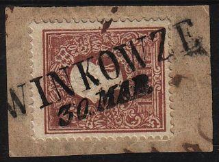 Austria 1858 10kr,  Stamp,  Type Ii.  Winkowze Canc.  (hungary) photo