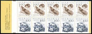 Sweden 1984 Stamp Booklet Mountain World Um (nh) Animals Lemming Musk Ox photo