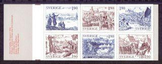 Sweden 1984 Stamp Booklet Old Towns Um (nh) A photo