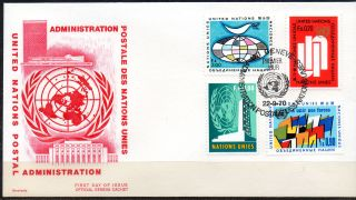 United Nations /geneve.  1970.  Different Design In Present Folder.  Fdc.  Mi: 11/1 photo