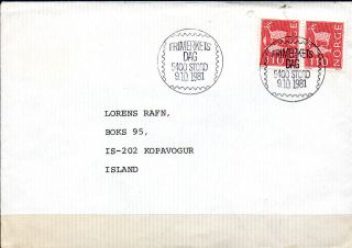 Norway.  1974.  Stylized Designs.  2x110aur In Par.  On Cover To Iceland.  Canceled: photo