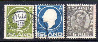 Iceland.  1911 - 20.  Sigurdsson.  1aur And 4aur,  Chr.  X.  Br photo