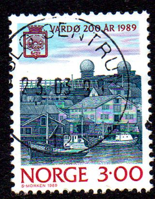 "Norway.  1989.  City Jubilees.  3kr.  Cancelation: ""oslo Sentrum 23.  03.  90"