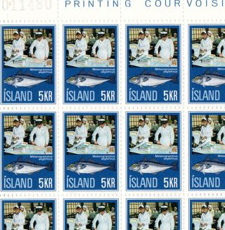 Iceland.  1971.  Fishing Industry.  5kr.  In Sheet Of 50.  M photo