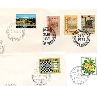 Iceland.  1970.  72.  84.  Four Special Cancelation: 18.  Meeting Nordic Concil,  The photo